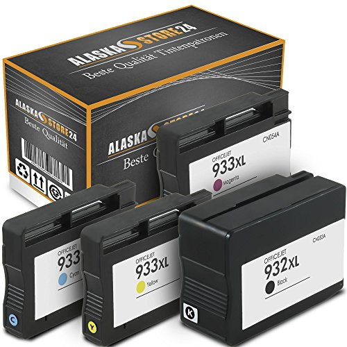 ATP 4er-Set Kompatible Tintenpatronen Druckerpatronen Ersatz für HP 932 XL + HP 933 XL (Black , Blau , Magenta , Gelb) HomeSerie