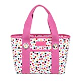 Sachi Fun Print Insulated Lunch Tote, Style 11-224, Pink Confetti By Sachi