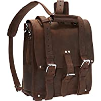 "Vagabond Traveler Hiker 14"" Tall Cowhide Full Leather Backpack L03"