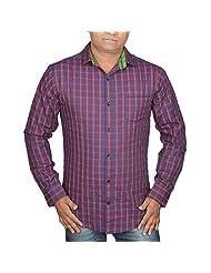 Hunk Men's Blue Cotton Shirt - B00TB60GIA