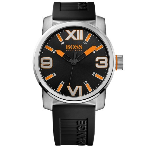 Hugo Boss  Dubai - Reloj de cuarzo para hombre, con correa de silicona, color negro