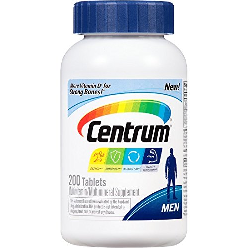 Centrum Men's Multivitamin/Multimineral Supplement, 200 Tablets