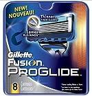 Gillette Fusion Proglide Men's Razor Blades Refills - 8 Count Cartridges Shaver
