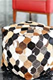Artisanto Hand Knitted Pouf / Stool -Multi/Natural