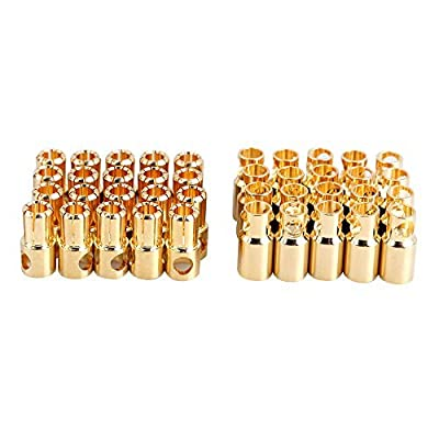Vktech 20 Pairs Bullet Banana Plug Connector for RC Battery Gold Plated New (6 mm) Size: 6 mm Model: , Toys & Games for Kids & Child by Vktech that we recomend personally.