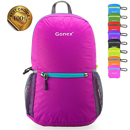 Gonex Ultra Lightweight Packable Backpack Hiking Daypack for Men and Women/ Handy Foldable Camping Outdoor Travel Cycling School Air Travelling Carry on Backpacking + Ultralight and Handy - 6.5 OZ Only + 6 Year Warranty + 8 Color Choices woodcraft амстердам еврокнижка ам 9а