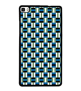 printtech Pattern check Back Case Cover for Huawei P8