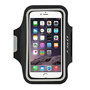 iPhone 6 Plus Armband, J&D Sports Armband for iPhone 6 Plus (5.5 inch), Key holder Slot, Perfect Earphone Connection while Workout Running (Black)