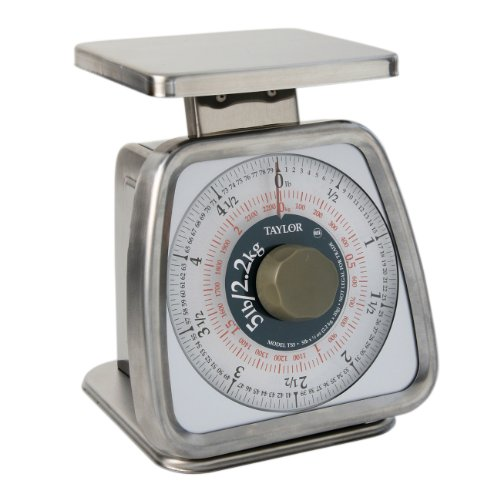 Taylor Food Service 5-Pound Analog Portion Control Scale, Stainless Steel