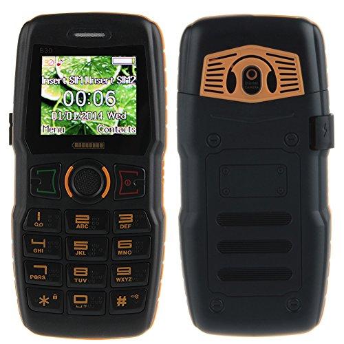 Padgene Outdoor SOS Handy Große Tasten Mobiltelefon Super Lang Standbyzeit Ohne Vertrag Blockhandy für Alter Senior mit Taschenlampe Kamera (B30-Orange)