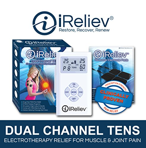 iReliev-TENS-Unit-8-Electrodes-Pain-Relief-Bundle-100-Satisfaction-or-14-Day-Back-Guarantee-2-Year-Warranty
