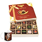 Chocholik Belgium Chocolates - Yummy Treat Of 20pc All Pralines Chocolate Box With Diwali Special Coffee Mug -...