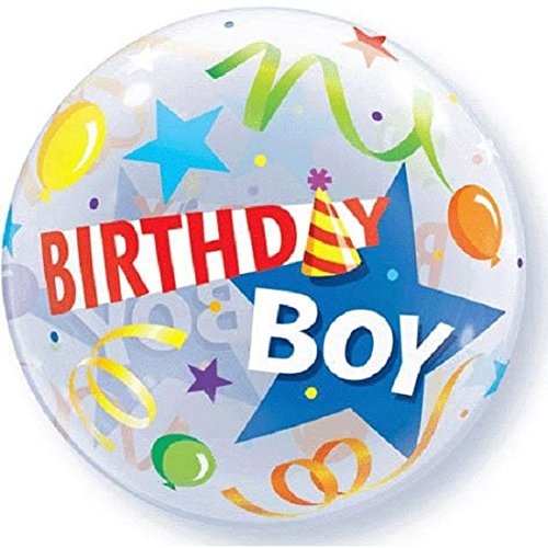 Birthday Boy Bubble Balloon - 1
