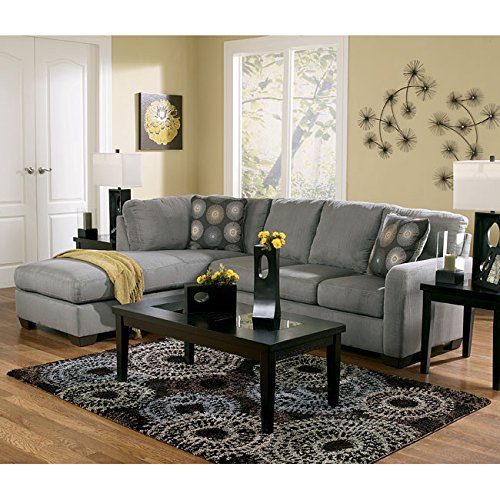 Zella Charcoal Gray Tone Soft Fabric Sofa Sectional With Left Arm Facing Chaise front-827825