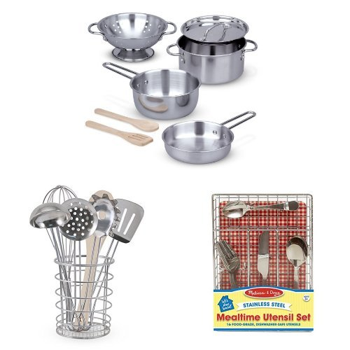 Kitchen play set bundle pots pans and utensils toys for Kitchen set game