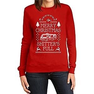 Frohe Weihnachten shitters Voll Frauen Rot Large Sweatshirt