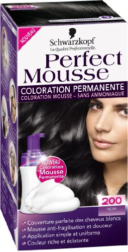 schwarzkopf perfect mousse coloration permanente noir 200 - Coloration Permanente Noir