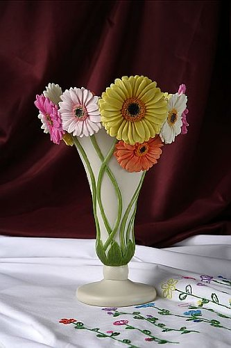 Gerbera Daisy Table Vase
