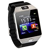 GeekEra Bluetooth Smart Watch Wristwatch with Camera Sync to Android IOS Smart Phone Samsung S5 / Note 2 / 3 / 4,nexus 6,htc,sony,huawei and Other Android Smartphone(Silver)