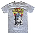 Star Wars Men's R2-D2 Vintage Look Distressed Logo T-shirt