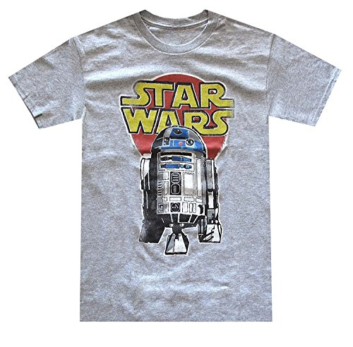 Star Wars Men's R2-D2 Vintage Look Distressed Logo T-shirt 0
