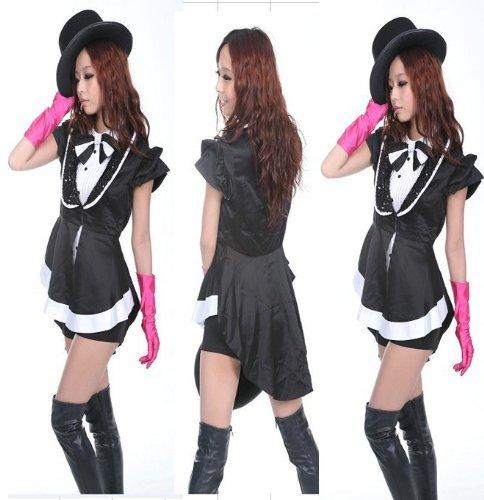少女時代 パパラッチ コスプレ 高品質衣装 黒 女性Mサイズ