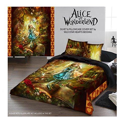 Wild Star ALICE IN WONDERLAND Duvet and Pillowcase Cover set (TWIN 200cm x 200cm) (Alice In Wonderland Quilt compare prices)
