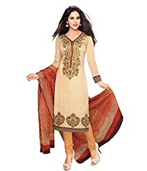 Neerja Creation Womens cotton Unstiched Dress material(K-213_Beige_Free size)