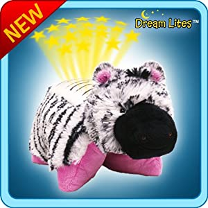 Amazon Com Pillow Pets Dream Lites Zippity Zebra 11