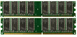 1GB 2x512MB PC3200 DDR-400 184p DIMM Desktop Memory RAM (MAJOR BRANDS)