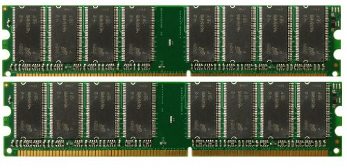 2x1GB DDR-400MHz 184-pin DIMM 2GB Kit Memory RAM Upgrade for eMachines T6524