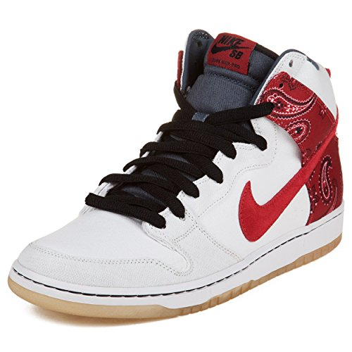 """Nike Mens Dunk High Pro Sb """"Cheech And Chong"""" White/Varsity Red Synthetic Skateboarding Size 11"""