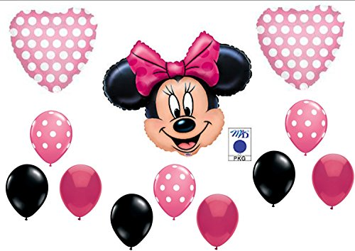 PINK MINNIE MOUSE BIRTHDAY PARTY Balloons Decorations