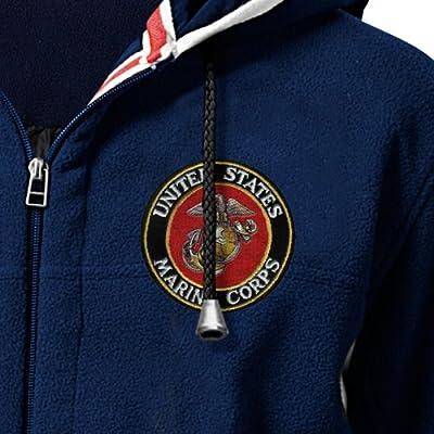 USMC Semper Fi Men's Hoodie - Hooded Fleece Jacket by The Bradford Exchange