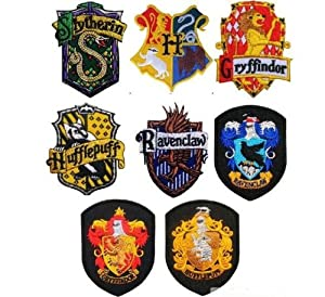 Harry Potter School Crest Iron on Patch Slytherin,gryffindor,hufflepuff,ravenclaw,hogwarts Small Badge 8pc
