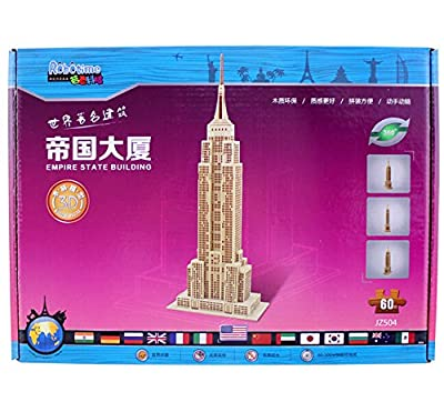 Coeus 3d Wooden Puzzle / DIY Model - World Architectures- The Empire State Building -Educational Games for Kids / 3d Puzzles for Adults