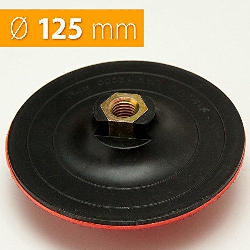 Schleifteller-125mm-Polierteller-Klett-und-Spannen-mit-Gewindeaufnahme-M14-Polierbedarf-fr-Winkelschleifer-Poliermaschinen-Bohrmaschine