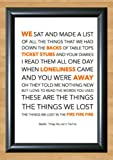 Bastille 'Things We Lost In The Fire' Lyrical Song Print Poster Art A4 Size (Typography)