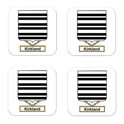 Kirkland Family Crest Square Coasters Coat Of Arms Coasters - Set Of 4 front-298894