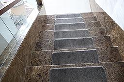 Ottomanson Softy Stair Treads Skid-Resistant Rubber Backing Non-Slip Carpet (9\