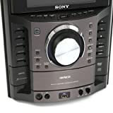 """Sony MHC-GZR333iA DVD/CD Karaoke Boombox Speaker Dock Shelf System GENEZI AM/FM Radio iPod/iPhone Dock 3-Disc DVD/CD Player Component System with Built-In 7"""" LCD Screen"""