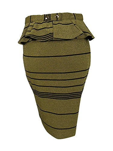 Patrizia Pepe Womens Striped Peplum Straight Skirt джинсы patrizia pepe patrizia pepe pa748ewhcs24