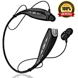 Bluetooth Headset Headphones BHS-930 by phaiser™ [Best HD Stereo Music] *PREMIUM BASS* with LifeState™ Technology + BONUS **FREE Ion PRO-K Energy Bracelet** - Lightweight Sweatproof Neckband Wireless Stereo Sports Headset for Running & Gym & Exercise & Driving - Hands-Free In Ear Earphones Earbuds + Microphone Bluetooth 4.1 with A2DP - For Apple Iphone 6Plus 6 5s 5c 4s 4, Ipad 2 3 4 New Ipad, Ipod, Android, Samsung Galaxy S6 S5 S4, LG G3 G2 and many more Smart Phones, Tablets, PCs and Laptops - Backed by 12 Months Warranty and Our Premium 100% Satisfaction Money Back Guarantee for 60 Days (All Black)