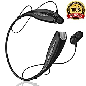 Cheap Bluetooth Headset Headphones BHS-930 by phaiser™ [Best HD Stereo Music] *PREMIUM BASS* with LifeState™ Technology + BONUS **FREE Ion PRO-K Energy Bracelet** - Wireless Handsfree In Ear Earphones Earbuds + Microphone Bluetooth 4.1 with A2DP and AptX - Backed by 12 Months Warranty and Our Premium 100% Satisfaction Money Back Guarantee for 60 Days (All Black)