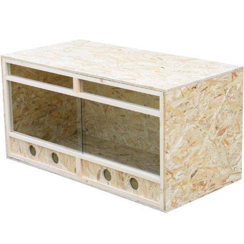 Homcom Holz Terrarium aus OSB Platten Holzterrarium 120x60x60 cm