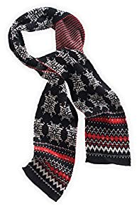 Green 3 Apparel Nordic Made in USA Snowflake Scarf