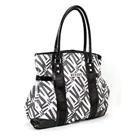 Versace Large Black & White Handbag