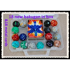 18 new bakugan ;18 METAL CARD in bakucase all different amazing gift