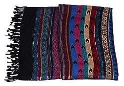 Kinari Women's Viscose Stole (Black)