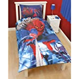 Boys The Amazing Spider-Man Movie 3D Effect Single Quilt/Duvet Cover Bedding Set (Single Bed) (Blue/Red)